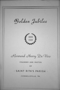 Golden Jubilee Program Brochure in Honor of Father Enrico De Vivo