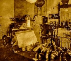 Michele Zullo in his shoe shop
