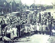 Italians of Oyster Bay at Festa di San Rocco - 1931