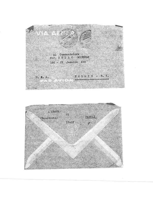 Envelope of letter dated 12 November 1949