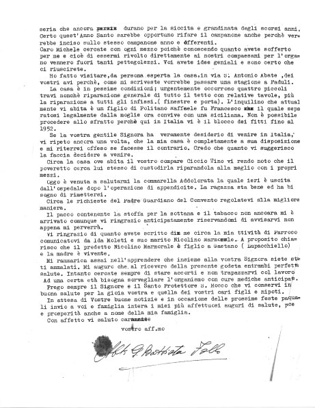 Letter from Abbot Follo to Michele Zullo, 21 March 1950, page 2