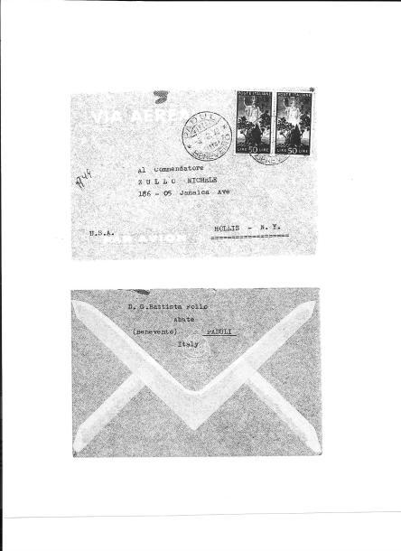 Follo-Zullo 4 December 1949, Envelope
