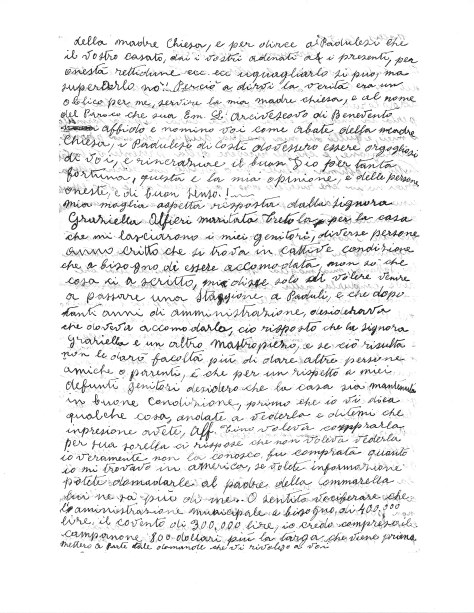 Letter from Michele Zullo to Abbot Follo, 1 February 1950, page 2